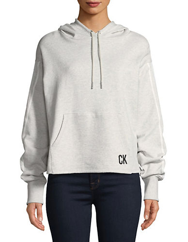 Calvin Klein Jeans Athletic Logo Tape Hoodie-GREY-Large 89995567_GREY_Large