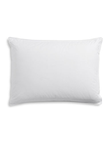 Hotel Collection Finest Bedding 600 Thread-Count Pima Cotton Down Pillow-WHITE-Queen