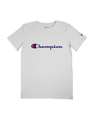 Champion Heritage Short-Sleeve Cotton Tee-WHITE-Small