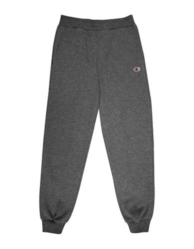 Champion Heritage Fleece Jogger Pants-GREY-Medium