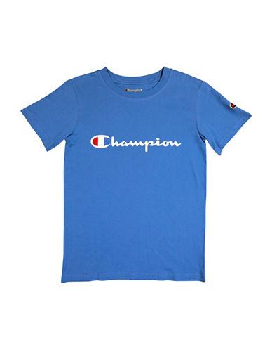 Champion Heritage Short-Sleeve Cotton Tee-REGATTA BLUE-Medium