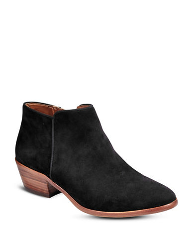 Sam Edelman Petty Suede Ankle Boots-BLACK SUEDE-5