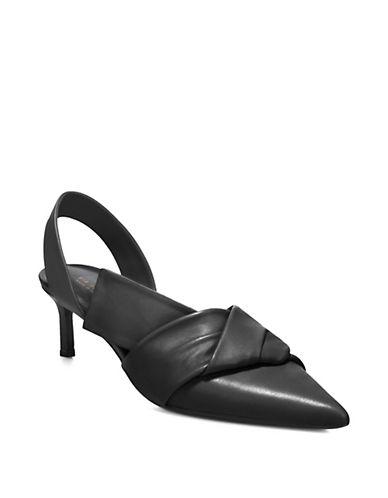 Elisha Kitten Heel Leather Pumps by Via Spiga
