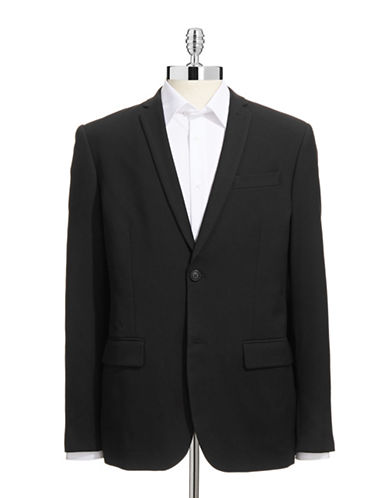 Perry Ellis Slim-Fit Travel Luxe Sports Jacket-BLACK-Large