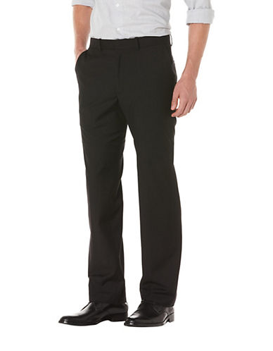 Perry Ellis Travel Luxe Slim Stretch Trousers-BLACK-36X32