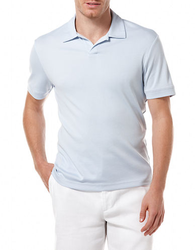 Perry Ellis Open Polo Knit-LIGHT BLUE-Small