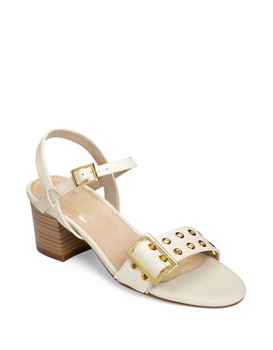 Aerosoles Mid Town Eyelet Sandals-WHITE-9