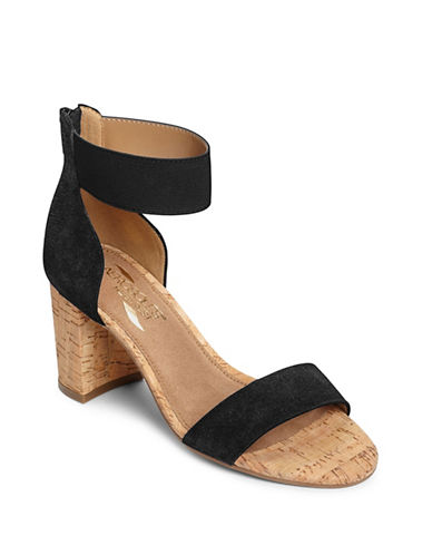 Aerosoles High Hopes Suede Sandals-BLACK-8