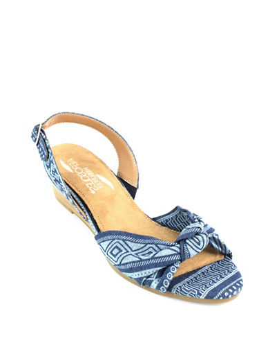 Aerosoles Literature Wedge Sandals-DENIM-6.5