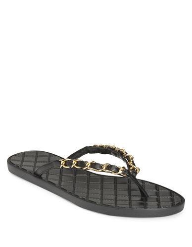 Aerosoles Isabella Thong Sandals-BLACK-6.5