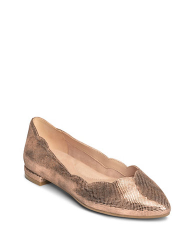 Aerosoles Leather Flats-PINK-7.5