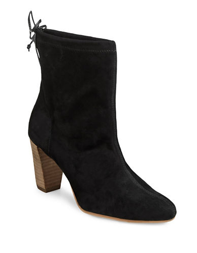 Aerosoles Fortress Suede Ankle Boots-BLACK-8.5