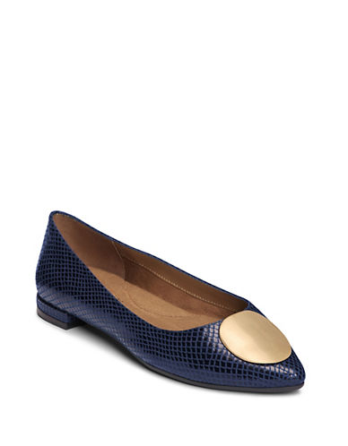 Aerosoles Poster Girl Slip-On Flats-BLUE-5.5