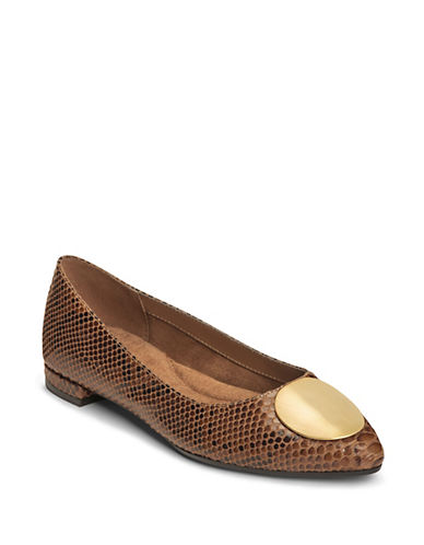 Aerosoles Poster Girl Slip-On Flats-TAN-9.5