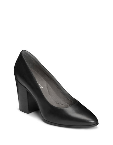 Aerosoles Classic Leather Pumps-BLACK-6.5