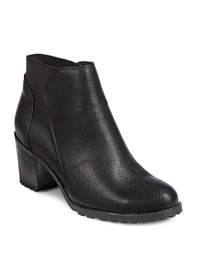 Aerosoles Block Heel Ankle Boots-BLACK-9.5