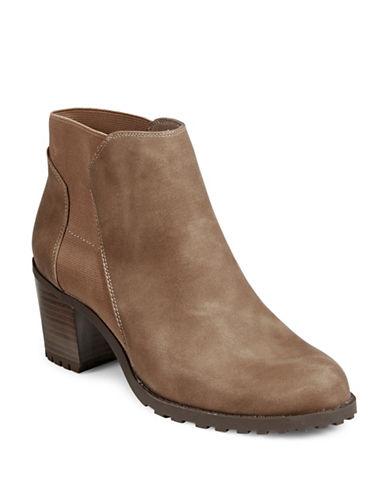 Aerosoles Block Heel Ankle Boots-MUSHROOM-9