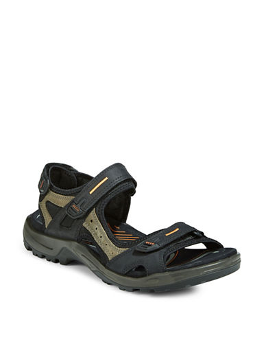 Ecco Yucatan Fisherman Sandals-BLACK-EU 46/US 13