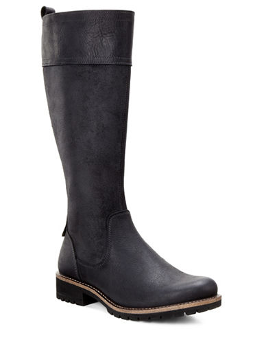 Ecco Elaine Water-Repellent Tall Boots-BLACK-EUR 36/US 6