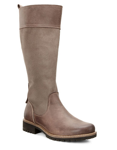 Ecco Elaine Water-Repellent Tall Boots-BROWN-EUR 36/US 6