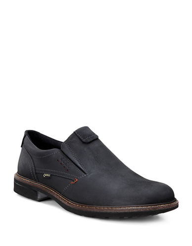 Ecco Turn GTX Leather Slip-On Shoes-BLACK-EU 40/US 7