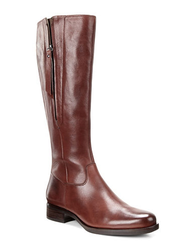 Ecco Adel Leather Tall Boots-BROWN-EUR 39/US 9