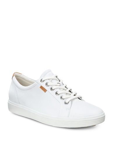 Ecco Soft 7 Leather Sneakers-WHITE-EUR 35/US 5