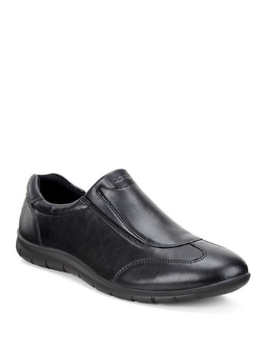 Ecco Babett Leather Slip-On Shoes-BLACK-EUR 37/US 7