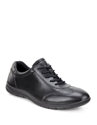 Ecco Babett Leather Sneakers-BLACK-EUR 38/US 8
