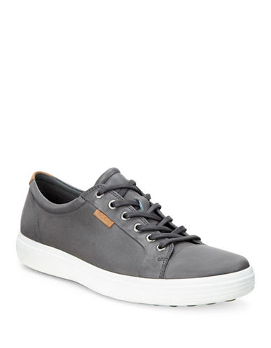 Ecco Soft Leather Sneakers-DARK SHADOW-EU 44/US 11