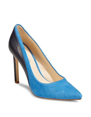Nine West Taymyra Two-Tone Pumps-BLUE-9.5