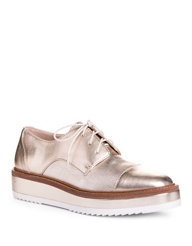 Nine West Vada Metallic Platform Oxfords-GOLD-9.5