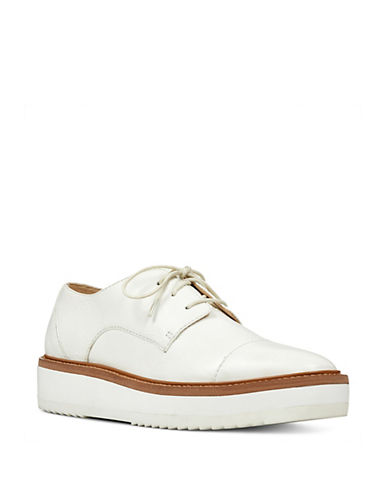 Nine West Square Toe Lace-Up Oxfords-WHITE-7