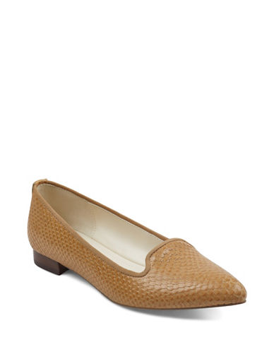 Anne Klein Oni Point Toe Ballet Flats-NATURAL-9.5