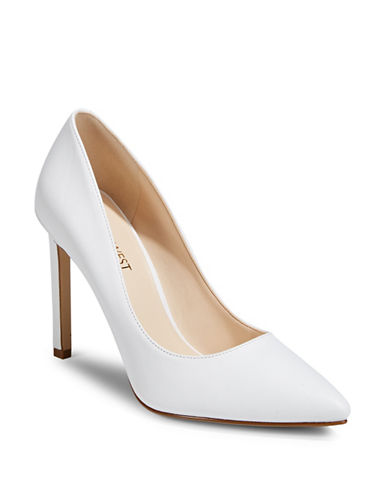 Nine West Tatiana Leather Pumps-WHITE-5.5