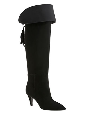 Nine West Josephine Solid Boots-BLACK-6