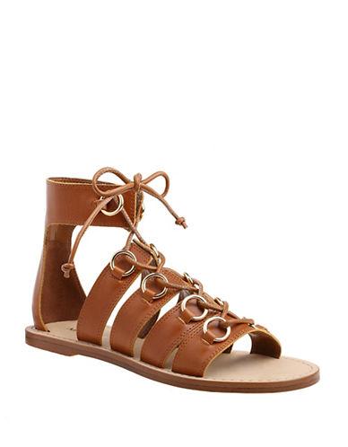 Nine West Gladiator Sandals-BROWN-8