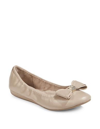 Bandolino Ferrista Natural Ballet Flats-NATURAL-7.5
