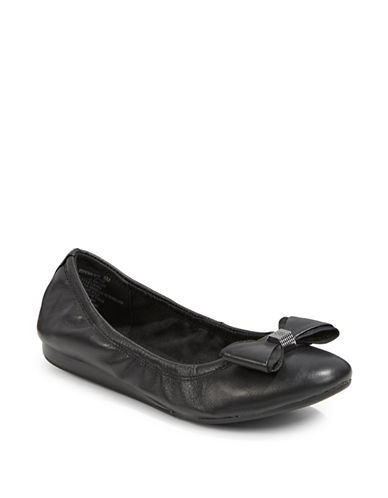 Bandolino Ferrista Natural Ballet Flats-BLACK-8.5