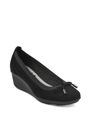 Anne Klein Carissa Wedge Pumps-BLACK-10