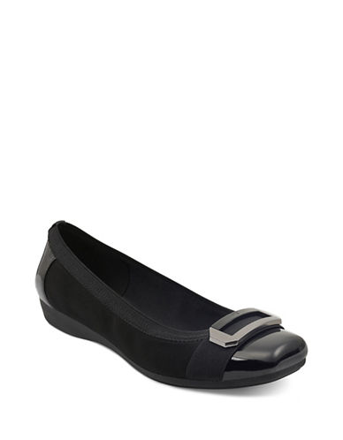 Anne Klein Uplift Ballet Flats-BLACK-8.5