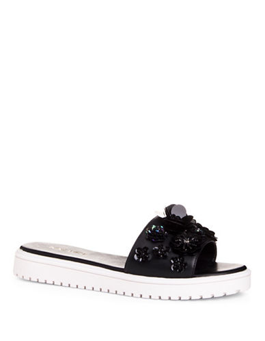 Nine West Rainen Platform Slides-BLACK-8