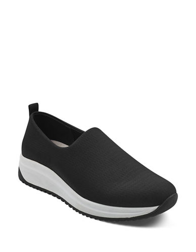 Anne Klein Brittany Slip-On Sneakers-BLACK-8.5