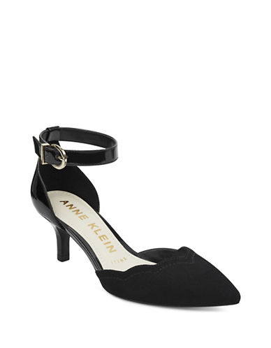 Anne Klein Findaway Ankle-Strap Pumps-BLACK-6.5