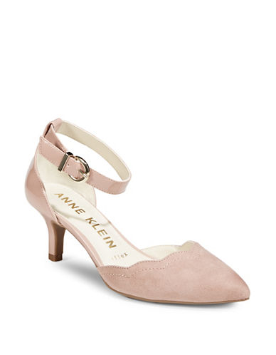 Anne Klein Findaway Ankle-Strap Pumps-PINK-9.5