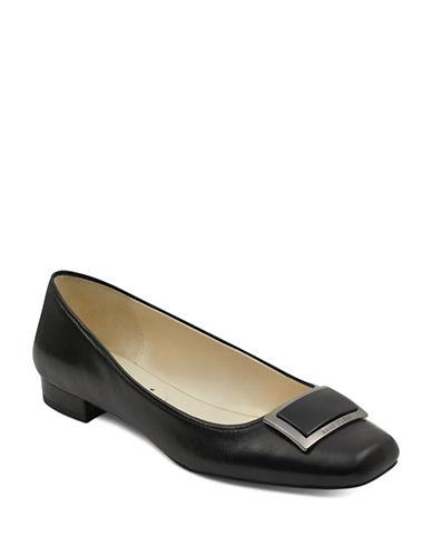 Anne Klein Ulla Ballet Flats-BLACK-5.5