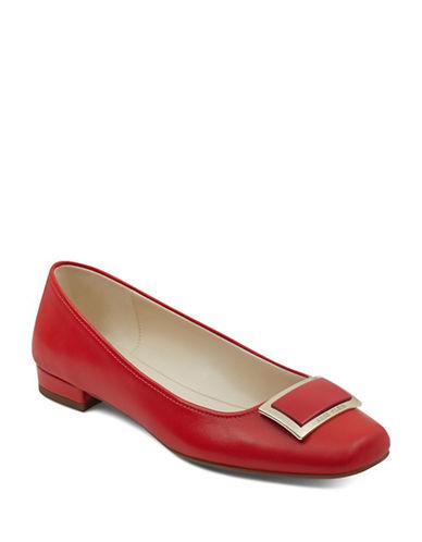 Anne Klein Ulla Ballet Flats-RED-7.5