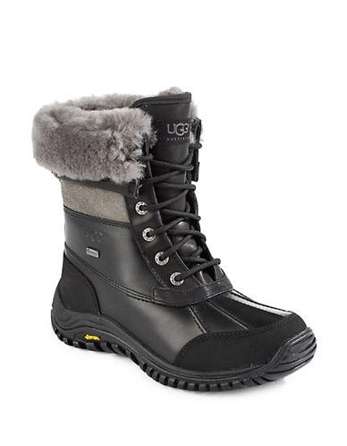 Ugg Adirondack Sheepskin Boots-BLACK/GREY-5