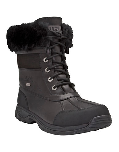 Ugg Butte Sheepskin-Lined Winter Boots-BLACK-10