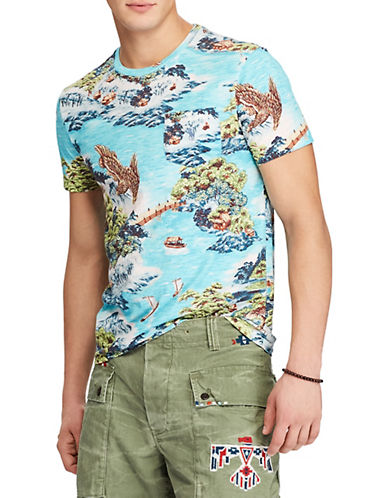 Polo Ralph Lauren Classic-Fit Print Cotton T-Shirt-BLUE-Small 89953149_BLUE_Small
